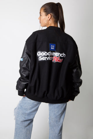 NASCAR Goodwrench Leather Varsity Jacket