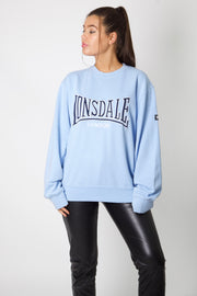 Lonsdale Baby Blue Embroidered Crewneck