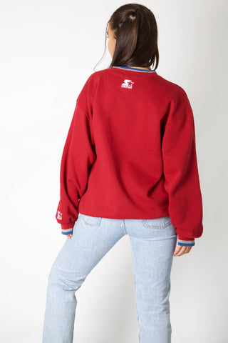 Colorado Avalanche Starter Embroidery Crewneck