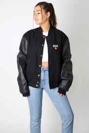 JBL leather Varsity Jacket