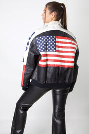 USA Full Leather Bomber Jacket
