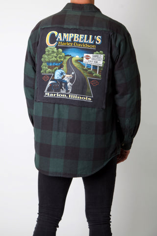 Campbells Road Rider Harley Reworked Padded Flannel