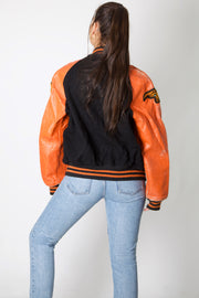 A Leather Varsity Jacket