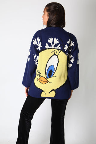 Tweety Snowflakes Knit Jumper