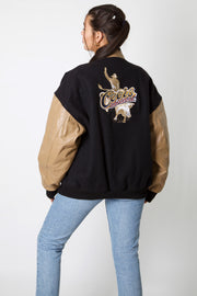 Coors Rodeo Leather Varsity Jacket