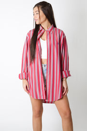 Ralph Lauren Hot Pink Striped Shirt
