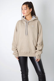 Champion Beige Embroidered C Hoodie