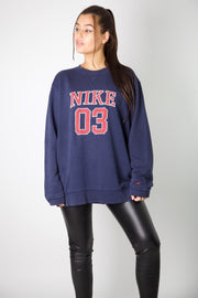 Nike Embroidered Spell Out Crewneck