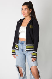 Harley Green Logo Zip Up Sweater