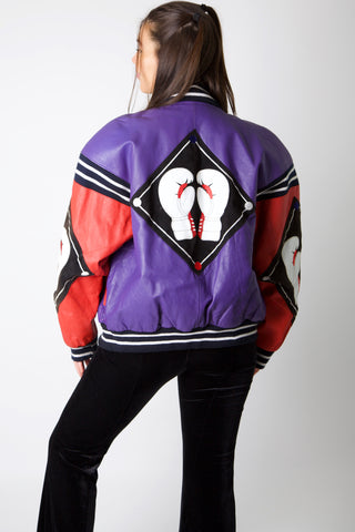 80's Boxing Gloves Leather Jacket