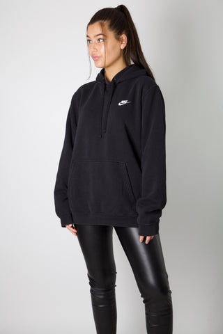 Nike Black Embroidered Logo Hoodie
