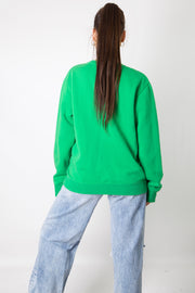 Green Puma Embroidered Spellout Crewneck