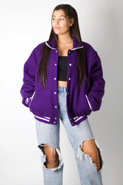 Purple Wrestling Varsity Jacket