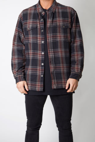 Spell Out Padded Flannel
