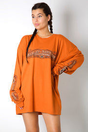 Orange Spell Out Harley Longsleeve