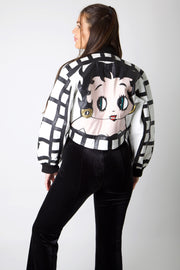 Betty Boop Full Leather Cropped Jacket