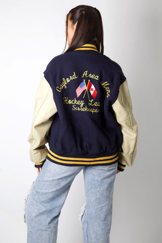 Hockey League Kelly Varsity Jacket
