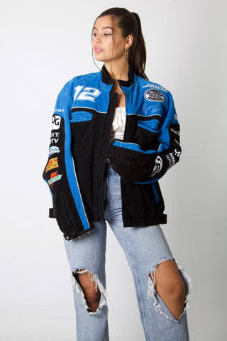NASCAR Dodge Suede Leather Jacket