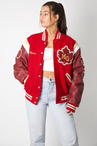 MG Crimson Varsity Jacket