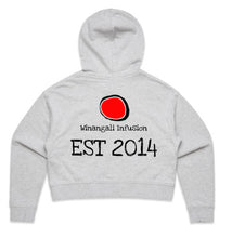 Load image into Gallery viewer, PRE ORDER WOMENS DHINAWAN CROP HOODIE WINANGALI LOGO