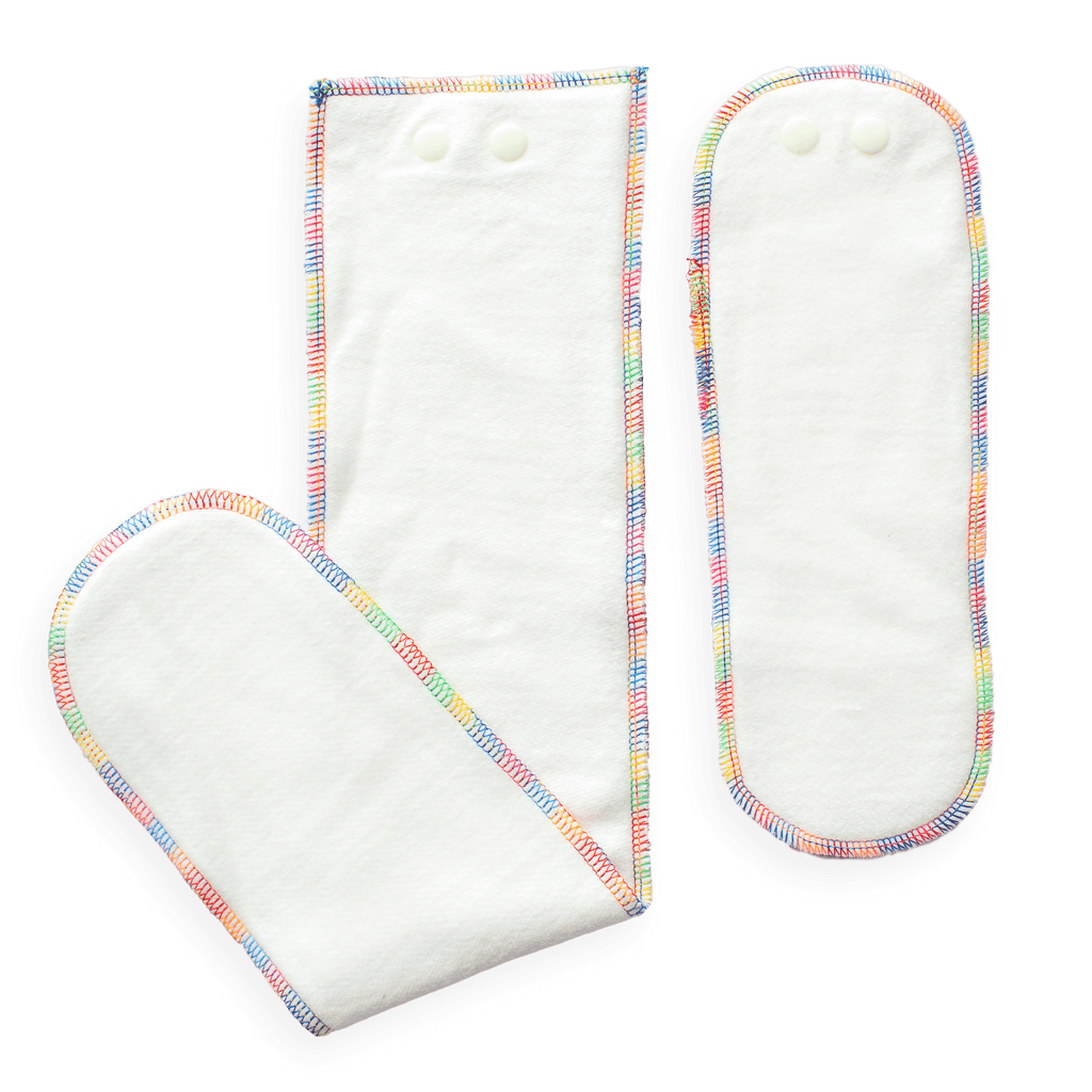 Baby BeeHinds Bamboo Fitted Nappy Insert Set - Tushie
