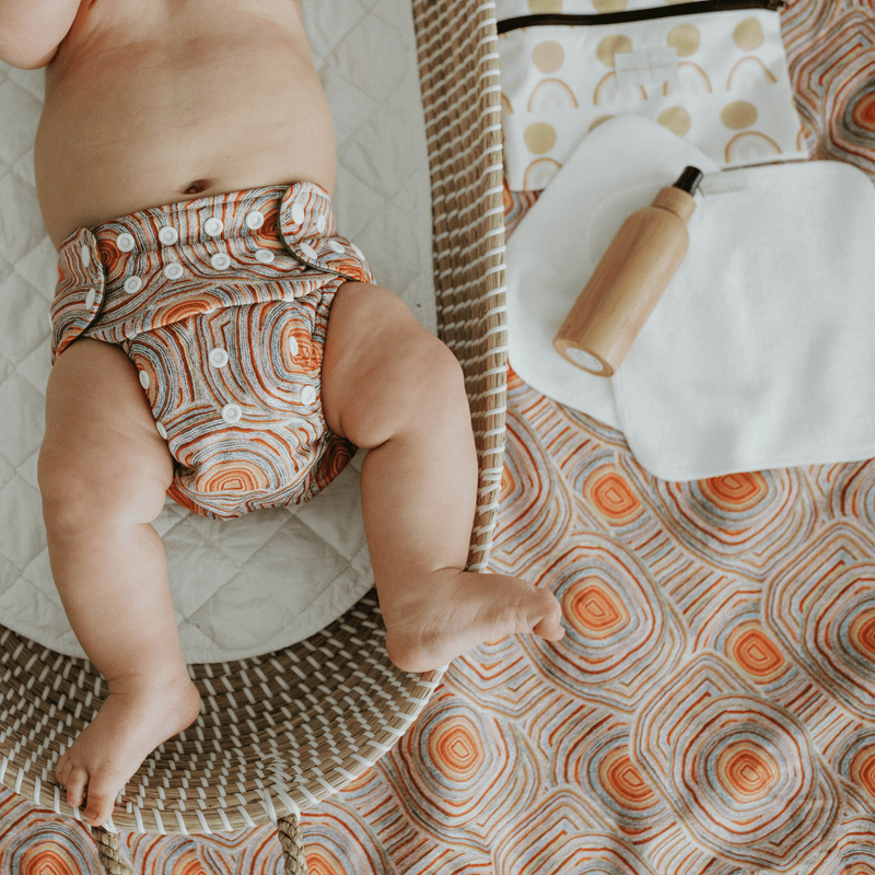 Bare and Boho Reusable Cloth Baby Wipes - Tushie
