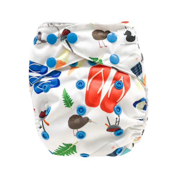 Fluffy Ducks Reusable Nappy - Tushie