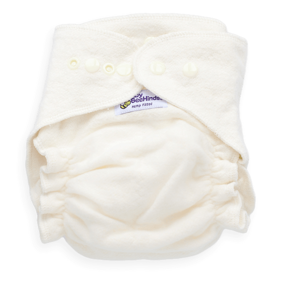 Baby BeeHinds Fitted Nappy - Hemp - Tushie