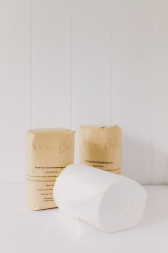Bare + Boho Bamboo Disposable Nappy Liners - Tushie