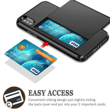 Load image into Gallery viewer, Slide Armor Wallet Card Slots Holder Case - iPhone-Cases.org