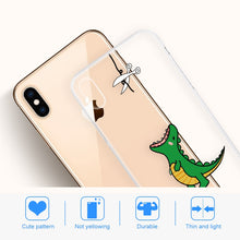 Load image into Gallery viewer, Dinosaur Eating Falling Apple iPhone Case - iPhone-Cases.org