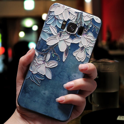 Floral Embossed Samsung Case - iPhone-Cases.org