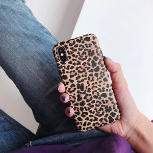 Leopard Print iPhone Silicone Case - iPhone-Cases.org