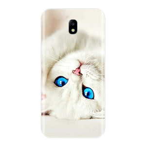 Cute Cat Painted Back Cover For Samsung - iPhone-Cases.org
