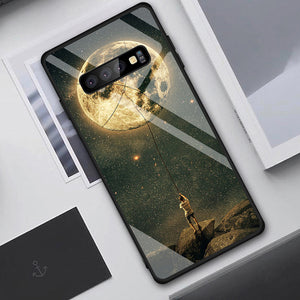 Graphics On Gradient Tempered Glass Case For Samsung Galaxy, Note - iPhone-Cases.org