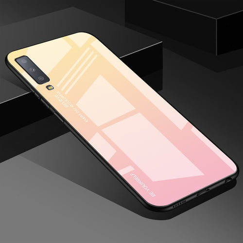 Peach Gradient Tempered Glass Case For Samsung Galaxy - iPhone-Cases.org