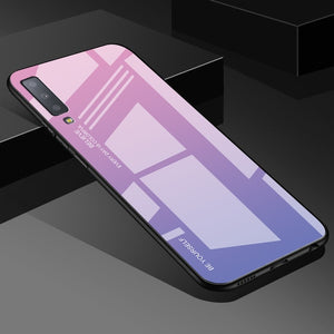 Purple Gradient Tempered Glass Case For Samsung Galaxy - iPhone-Cases.org