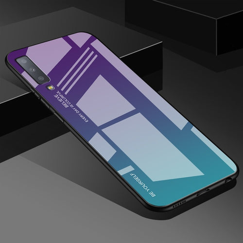 Green Gradient Tempered Glass Case For Samsung Galaxy - iPhone-Cases.org