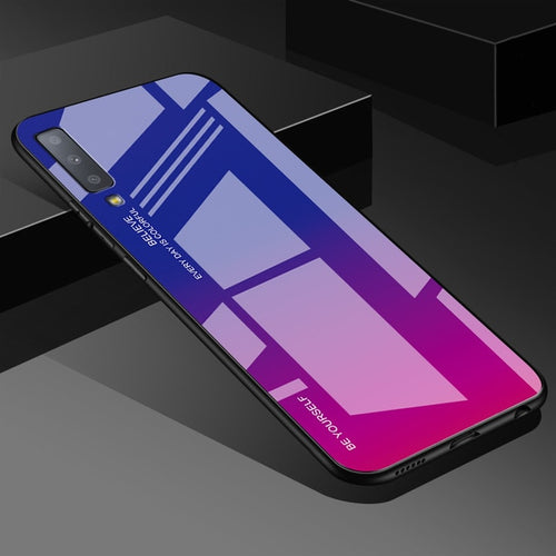 Pink Gradient Tempered Glass Case For Samsung Galaxy - iPhone-Cases.org