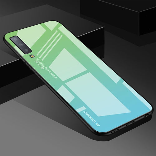 Blue Grass Gradient Tempered Glass Case For Samsung Galaxy - iPhone-Cases.org