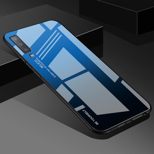 Black Gradient Tempered Glass Case For Samsung Galaxy - iPhone-Cases.org
