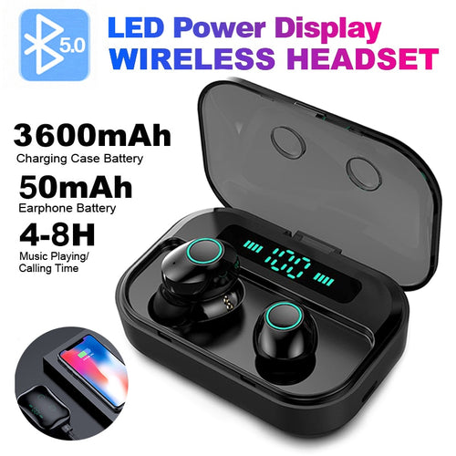 Bluetooth Wireless Earbuds With LED Case - iPhone-Cases.org