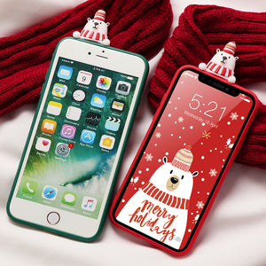 Snow Bear Christmas iPhone Case - iPhone-Cases.org