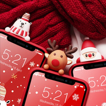 Load image into Gallery viewer, Santa Snowy Christmas Cartoon Characters iPhone Case - iPhone-Cases.org