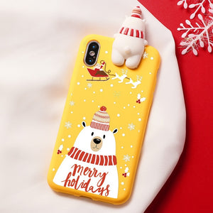 Bear Merry Christmas Cartoon Characters iPhone Case - iPhone-Cases.org