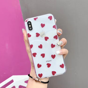 Soft Clear Love Heart Phone Case For iPhone - iPhone-Cases.org