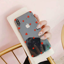 Load image into Gallery viewer, Soft Clear Love Heart Phone Case For iPhone - iPhone-Cases.org
