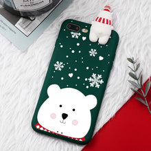 Load image into Gallery viewer, Snow Bear Christmas Cartoon Characters iPhone Case - iPhone-Cases.org
