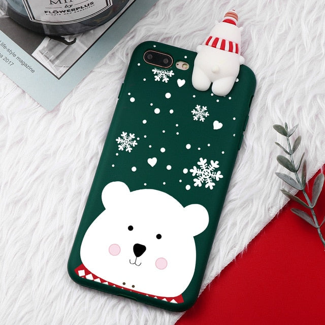 Snow Bear Christmas Cartoon Characters iPhone Case - iPhone-Cases.org
