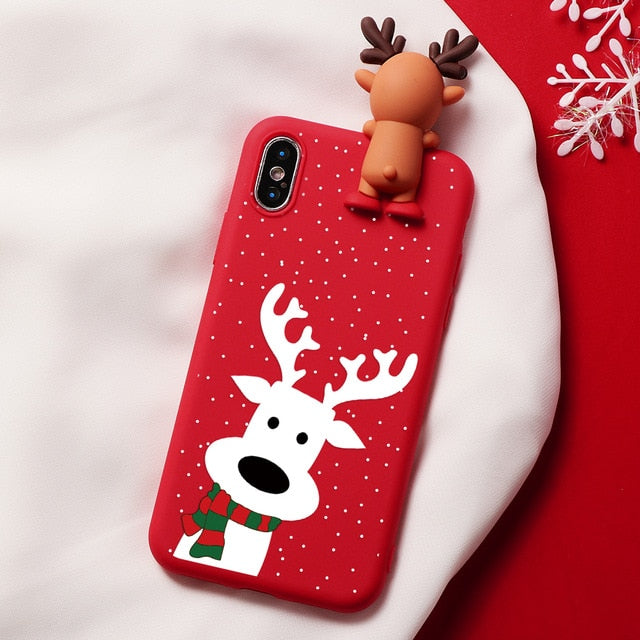 Reindeer Snow Christmas Cartoon Characters iPhone Case - iPhone-Cases.org